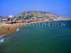 UK, Sussex, HASTINGS, Fishermen's Beach and East Cliffs, HAS19JPL