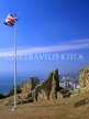 UK, Sussex, HASTINGS, Hastings Castle ruins, HAS02JPL