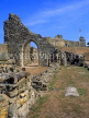 UK, Sussex, HASTINGS, Hastings Castle ruins, HAS06JPL