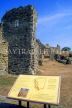 UK, Sussex, HASTINGS, Hastings Castle ruins, HAS79JPL
