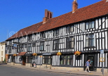 UK, Warwickshire, STRATFORD-UPON-AVON, Chapel Street, half timbered buildings and Falcon Pub, UK25550JPL
