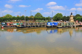 UK, Warwickshire, STRATFORD-UPON-AVON, Stratford Canal Basin, houseboats moored, UK25535JPL