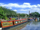UK, Warwickshire, STRATFORD-UPON-AVON, Stratford Canal Basin and narrow boats, UK5926JPL