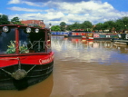 UK, Warwickshire, STRATFORD-UPON-AVON, Stratford Canal Basin and narrow boats, UK5928JPL