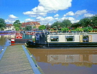 UK, Warwickshire, STRATFORD-UPON-AVON, Stratford Canal Basin and narrow boats, UK5932JPL