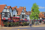 UK, Warwickshire, STRATFORD-UPON-AVON, The Swan hotel and shop fronts, UK25597JPL