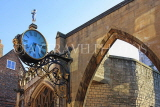 UK, Yorkshire, YORK, Coney St, Little Admiral Clock at St Martin-le-Grand Church, UK3093JPL