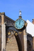 UK, Yorkshire, YORK, Coney St, Little Admiral Clock at St Martin-le-Grand Church, UK3178JPL