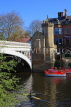 UK, Yorkshire, YORK, Lendal Bridge over River Ouse, and pleasure boats, UK9817JPL