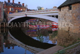 UK, Yorkshire, YORK, Lendal Bridge over River Ouse, dusk view, UK3218JPL