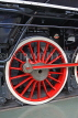 UK, Yorkshire, YORK, National Railway Museum, vintage steam engine wheel, UK3044JPL