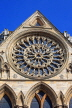 UK, Yorkshire, YORK, York Minster, Rose Window, UK2545JPL