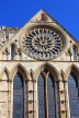 UK, Yorkshire, YORK, York Minster, and Rose Window, UK9784JPL