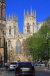 UK, Yorkshire, YORK, York Minster, and street scene, UK3180JPL