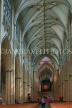 UK, Yorkshire, YORK, York Minster, interior, nave, UK9866JPL