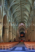 UK, Yorkshire, YORK, York Minster, interior, nave, UK9867JPL