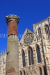 UK, Yorkshire, YORK, York Minster and Roman Column, UK2542JPL