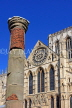 UK, Yorkshire, YORK, York Minster and Roman Column, UK9862JPL