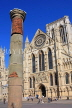 UK, Yorkshire, YORK, York Minster and Roman Column, UK9863JPL