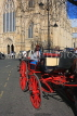 UK, Yorkshire, YORK, horse drawn carriage, by York Minster, UK2550JPL