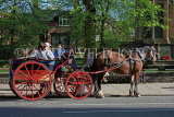 UK, Yorkshire, YORK, horse drawn carriage, rides for tourists, UK3164JPL