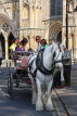 UK, Yorkshire, YORK, horse drawn carriage, tourists riding, UK9924JPL