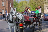 UK, Yorkshire, YORK, horse drawn carriage, tourists riding, UK9925JPL