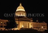 USA, Arkansas, Little Rock, State Capitol building, night view, US4408JPL