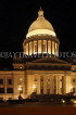USA, Arkansas, Little Rock, State Capitol building, night view, US4410JPL
