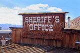 USA, California, Calico Ghost Town, Sheriff's Office building sign, US4738JPL