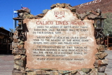 USA, California, Calico Ghost Town, information plaque, US4734JPL