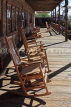 USA, California, Calico Ghost Town, restaurant rocking chairs, US4845JPL