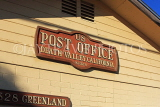 USA, California, Death Valley Nat Park, Furnace Creek Ranch, Post Office sign, US4805JPL