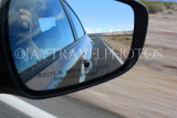 USA, California, Death Valley National Park, driving, wing mirror, US4763JPL