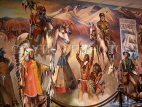 USA, California, LOS ANGELES, Autry National Center (Gene Autry Heritage Museum), giant mural,  LA486JPL