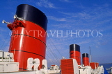 USA, California, LOS ANGELES, Long beach, Queen Mary ocean liner, funnels, US3898JPL