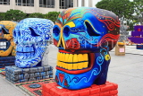 USA, California, Los Angeles, Day of the Dead celebration, Grand Skulls on display, US4900JPL