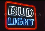 USA, Illinois, CHICAGO, Bud Light beer, neon sign, US3463JPL