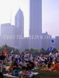 USA, Illinois, CHICAGO, Grant Park and Blues Festival crowds, CHI763JPL