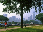 USA, Illinois, CHICAGO, Grant Park and Downtown skyline, CHI793JPL