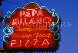 USA, Illinois, CHICAGO, Pizza restaurant, neon sign, US3463JPL