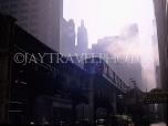 USA, Illinois, CHICAGO, mist over Downtown area, and subway, CHI780JPL