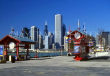USA, Illinois, CHICAGO, skyline view from Navy Pier, US2783JPL
