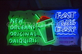USA, Louisiana, NEW ORLEANS, French Quarter, 'Fat Tuesday' neon sign, LOU246JPL