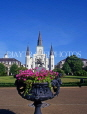 USA, Louisiana, NEW ORLEANS, French Quarter, Jackson Square and St Louis Cathedral, LOU101JPL