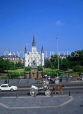 USA, Louisiana, NEW ORLEANS, French Quarter, Jackson Square and St Louis Cathedral, LOU108JPL