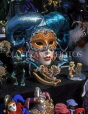 USA, Louisiana, NEW ORLEANS, French Quarter, Mardi Gras mask for sale, LOU119JPL