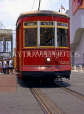 USA, Louisiana, NEW ORLEANS, French Quarter, Riverfront street car, LOU158JPL