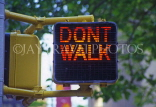 USA, New York, MANHATTAN, 'Don't Walk' pedestrian sign, NYC335JJPL