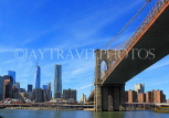 USA, New York, MANHATTAN, Brooklyn Bridge, and skyline, US4495JPL